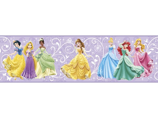 Walt Disney Kids II 9 True Princess Border Wallpaper by York Wallcoverings