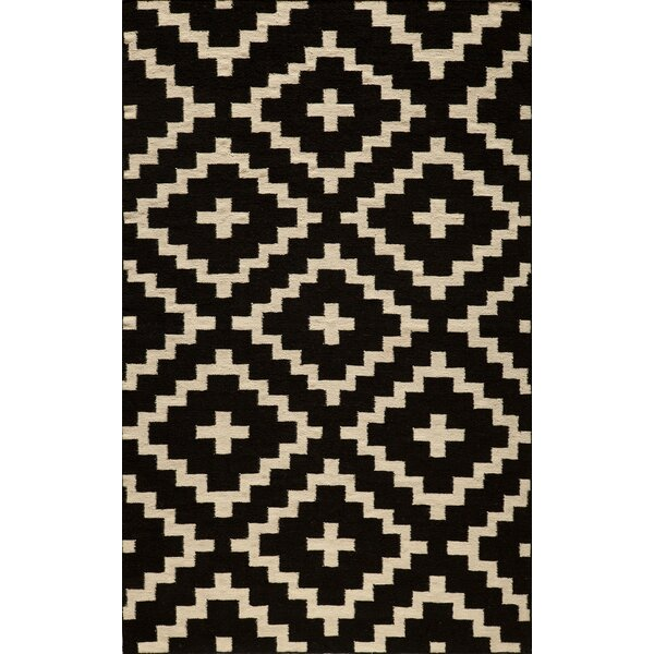 Bouldin Hand-Woven Black Area Rug by Wrought Studio
