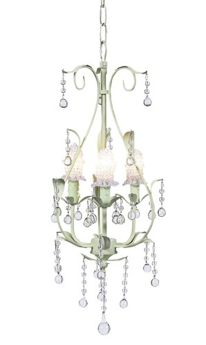 Pear 3-Light Shaded Chandelier by Jubilee Collection