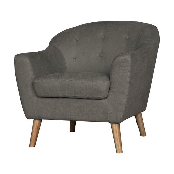 Zendejas Mid Century Modern Barrel Chair by George Oliver