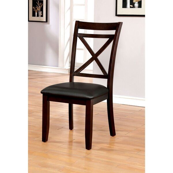 Beresford Cross Back Side Chair in Dark Cherry by Red Barrel Studio Red Barrel Studio