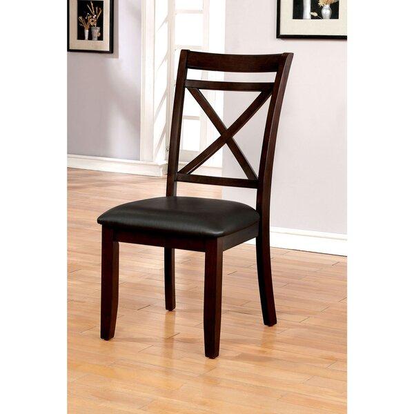 Beresford Cross Back Side Chair In Dark Cherry By Red Barrel Studio