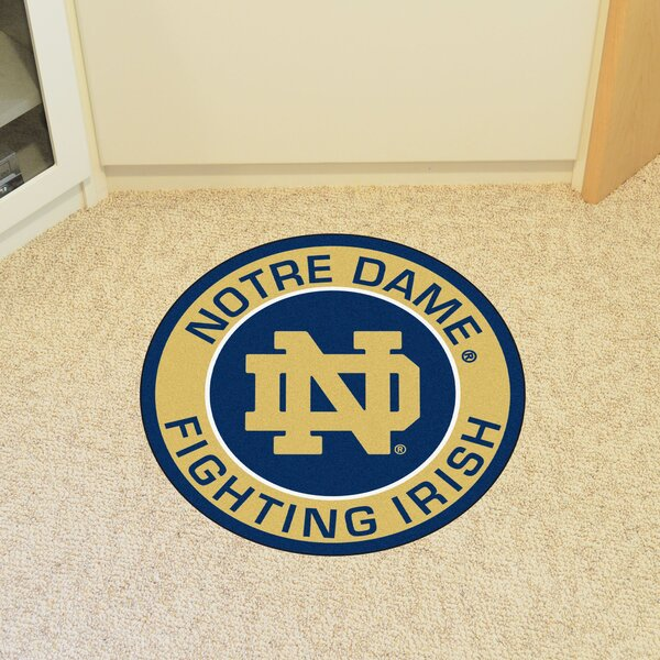 NCAA Notre Dame Roundel Mat by FANMATS