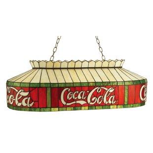 Reviews 40 W Tiffany Coca-Cola Pool Table Pendant By Meyda Tiffany