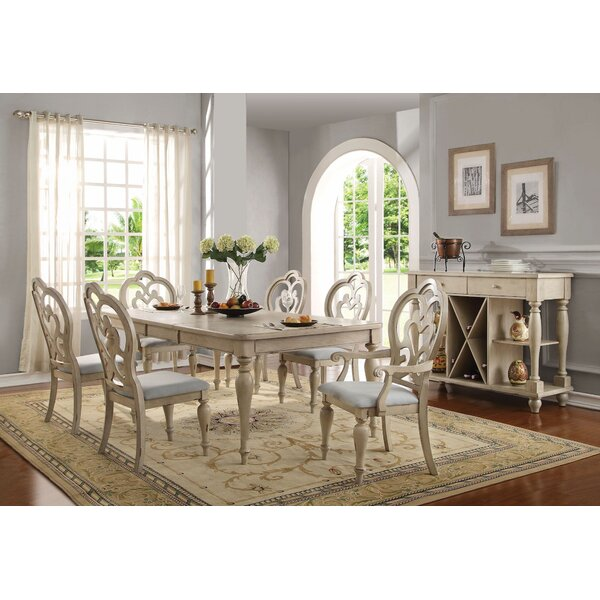 Mireya 7 Pieces Extendable Dining Set by Ophelia & Co.