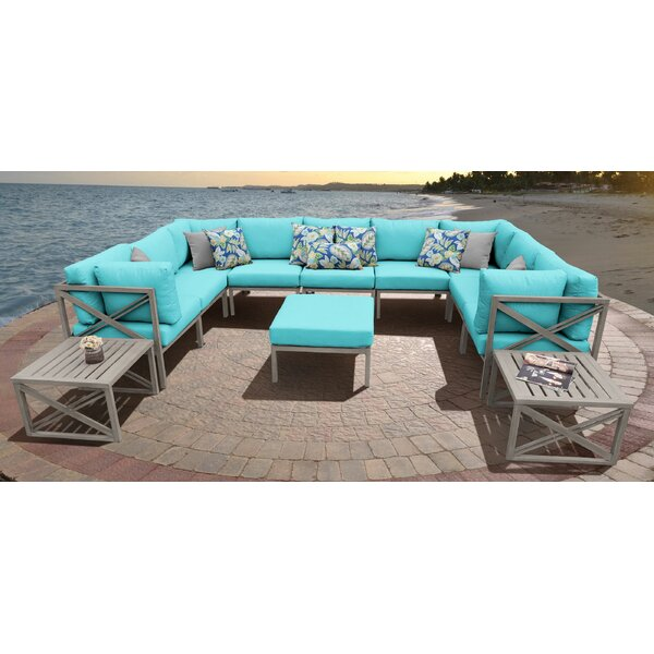 Carlisle 12 Piece Sectional Seating Group with Cushions by TK Classics