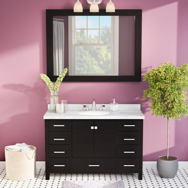 Marine 49 Single Bathroom Vanity Set with Mirror by Andover Mills