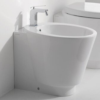 Wish 1.3 GPF Elongated Toilet Bowl by Scarabeo by Nameeks