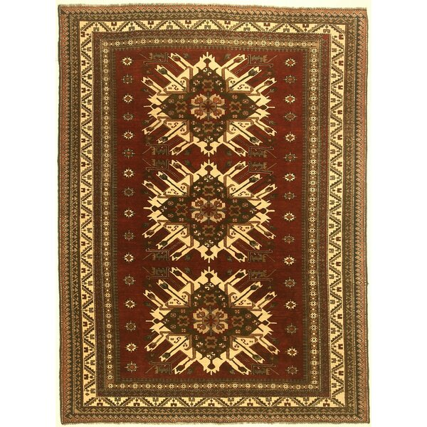 One-of-a-Kind Cordelia Hand-Knotted Wool Red Area Rug by Isabelline