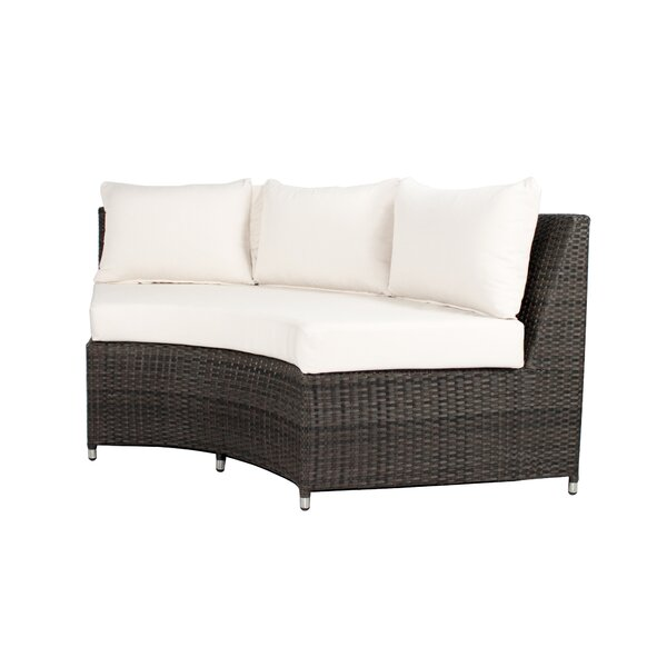Rorie Round Sofa with Cushions by Brayden Studio