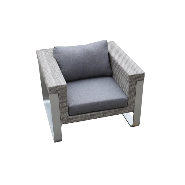 Regalado Outdoor Patio Chair with Cushions by Orren Ellis
