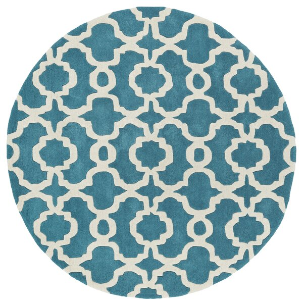 Molly Hand-Tufted Teal / Ivory Area Rug by Ivy Bronx