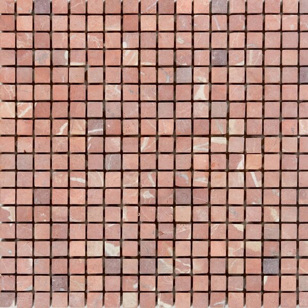 0.63 x 0.63 Marble Mosaic Tile in Honed Red by Epoch Architectural Surfaces