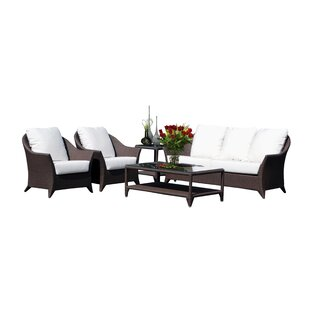 Jeremy 5 Piece Sunbrella Sofa Set with Cushions By Mistana
