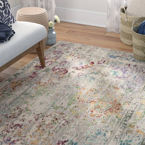 Lulu Rectangle Gray/Multi Area Rug by Mistana