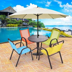 Del Patio Kids 5 Piece Activity Table and Chair Set & Kids Patio Chair | Wayfair