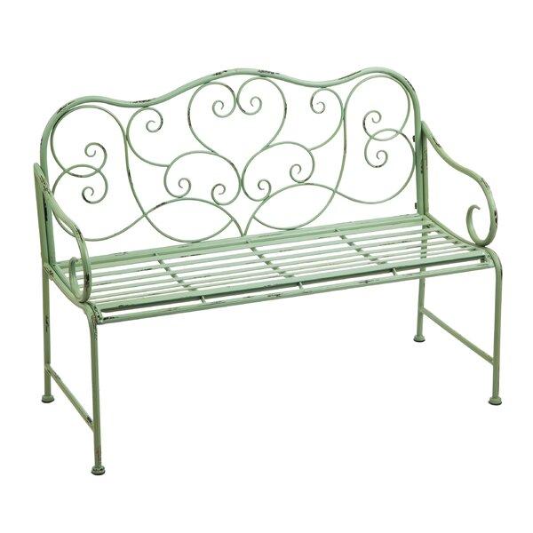 Garry Scroll Metal Garden Bench by One Allium Way