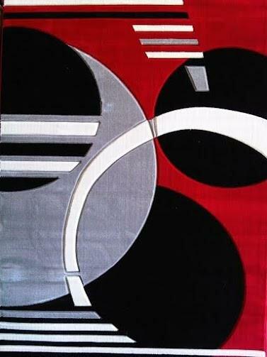 Venetian Red/Gray/Black Area Rug by Orren Ellis