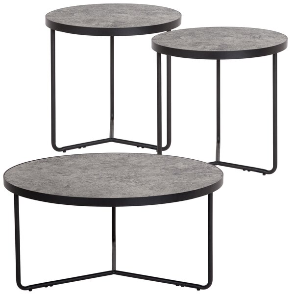 Capone 3 Piece Coffee Table Set by Union Rustic