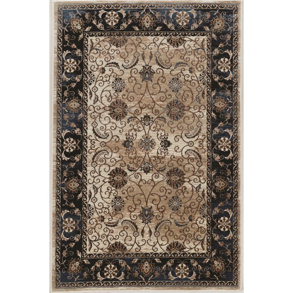 Bluff Canyon Black/Beige Area Rug by Charlton Home