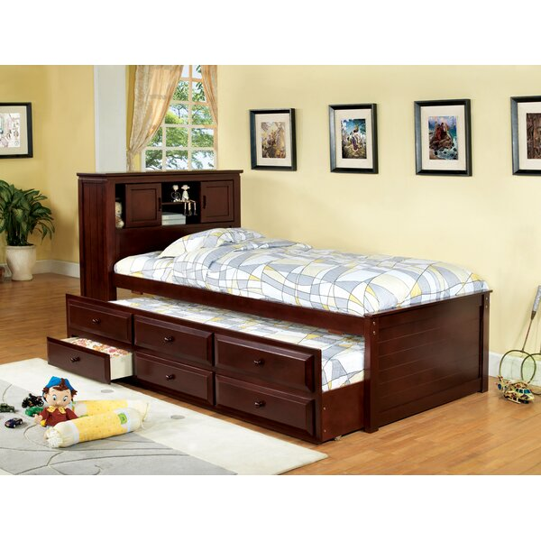 Montana Twin Mates & Captains Bed with Bookcase and Drawers by Hokku Designs