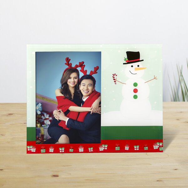 Holiday Snowman Picture Frame by The Holiday Aisle