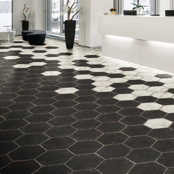 Rama Hexagon 14.13 x 16.25 Porcelain Mosaic Tile i