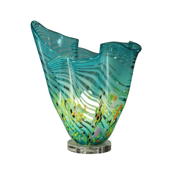 Boaman Wave Favrile 14.5'' Table Lamp by Bay Isle Home