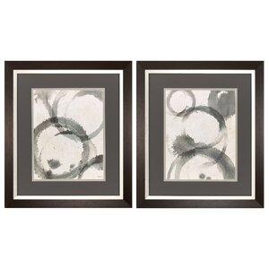 Waterstain 2 Piece Framed Painting Print Set by Propac Images