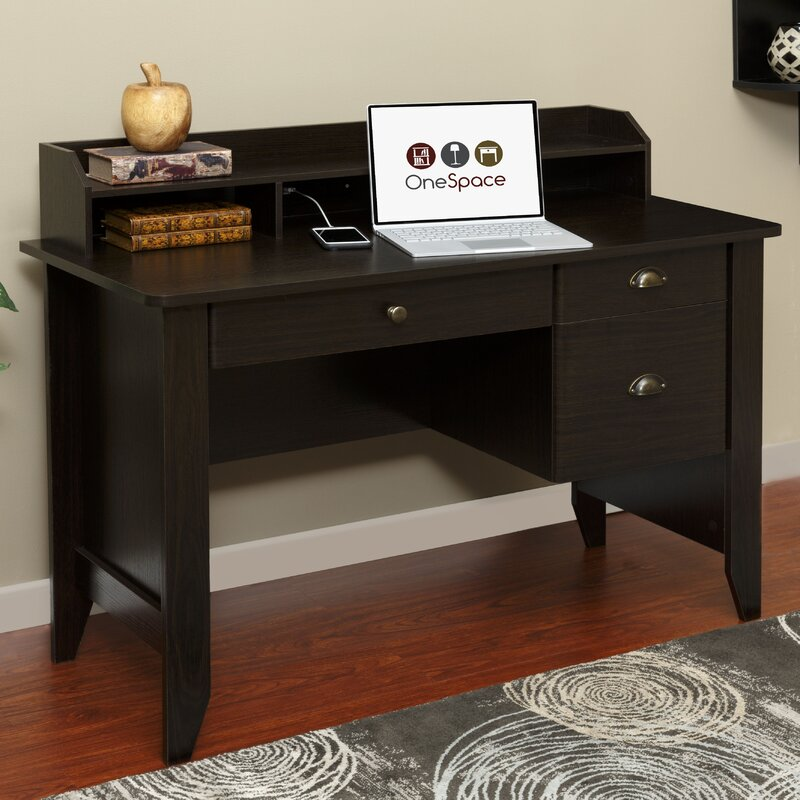 baker computer desk with hutch