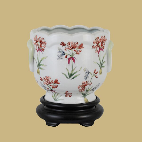 Porcelain Urn Planter by East Enterprises Inc