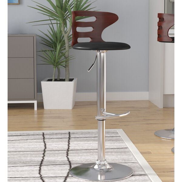 Catina Adjustable Height Swivel Round Seat Bar Stool by Wade Logan