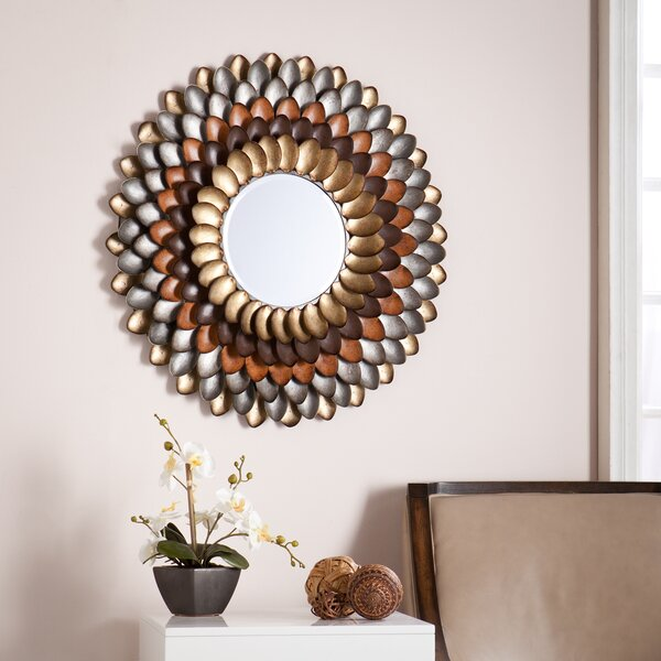 Decorative Round Wall Mirror by Red Barrel Studio