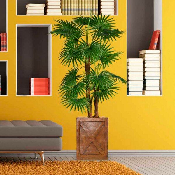 Artificial Indoor/Outdoor Décor Floor Palm Tree in Planter by Bayou Breeze