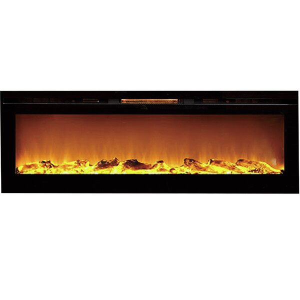 Barajas Wall Mounted Electric Fireplace by Brayden Studio