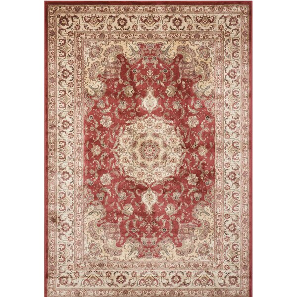 Merrionette Burgundy Area Rug by Three Posts