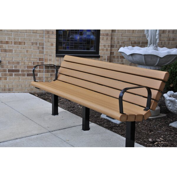 Jameson Recycled Plastic Park Bench by Frog Furnishings