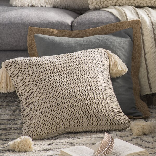Marian Cotton Throw Pillow by Mistana