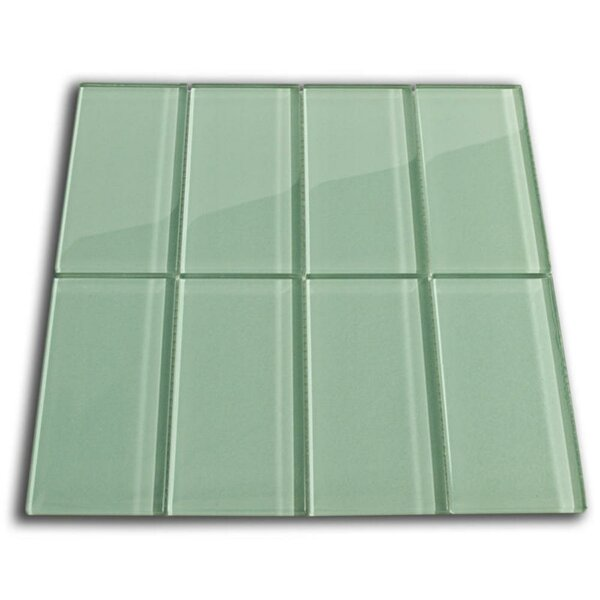 Californium 3 x 6 Glass Mosaic Tile in Sage Green by CNK Tile