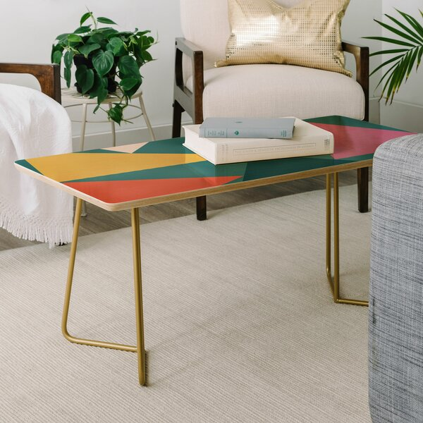 The Old Art Studio Geometric Coffee Table by East Urban Home