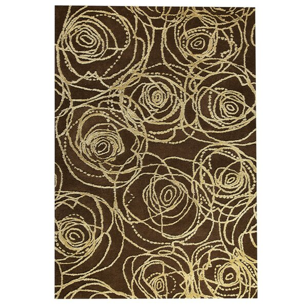 Rosa Hand-Tufted Brown/Beige Area Rug by M.A. Trading