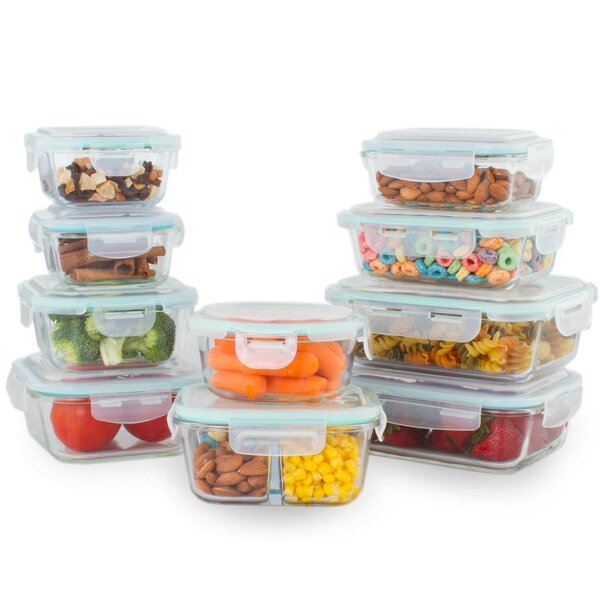 Kaneko 10 Container Food Storage Set by Rebrilliant