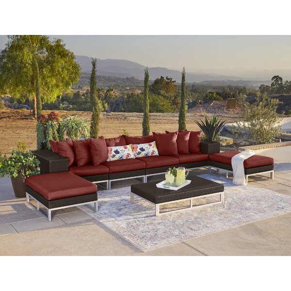 Ellie 7 Piece Sectional Seating Group with Cushions by Ivy Bronx