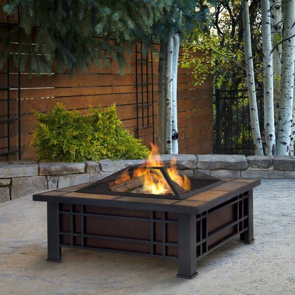 Real Flame Morrison Wood Burning Fire Pit U0026 Reviews | Wayfair