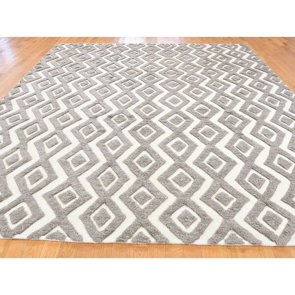 One-of-a-Kind Wroten Oriental Hand-Knotted Gray Area Rug by Loon Peak