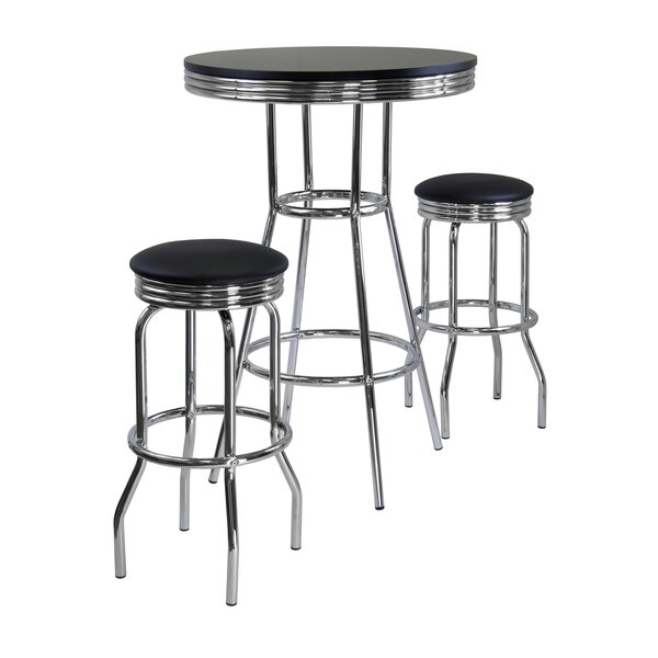 Mackenzie 3 Piece Pub Table Set by Latitude Run