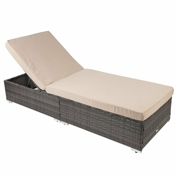 Kring Chaise Lounge with Cushion by Bayou Breeze