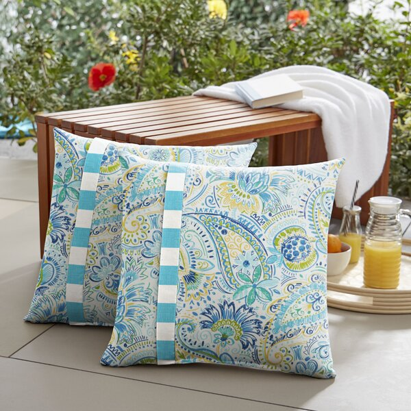 Pewitt Indoor/Outdoor Throw Pillow (Set of 2) by Ebern Designs