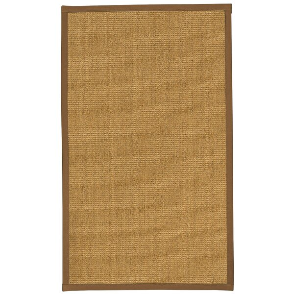 Nate Hand-Hooked Brown Area Rug