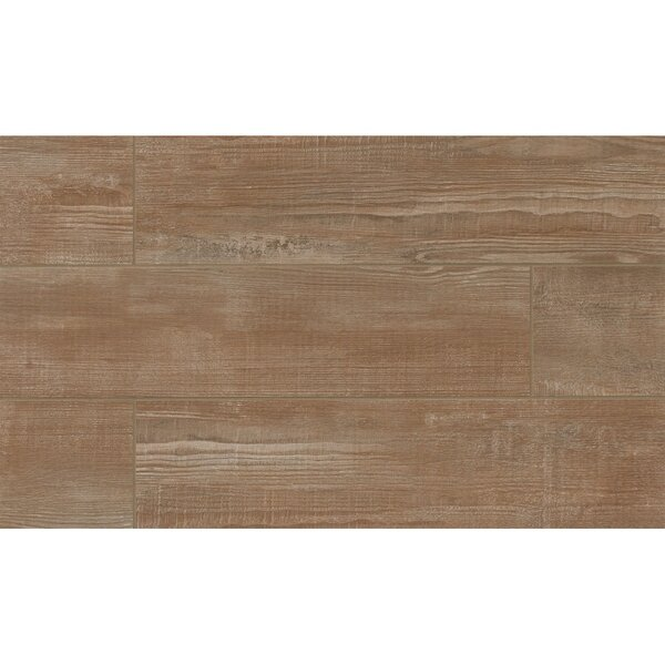 Hamptons 8 x 36 Porcelain Wood Tile in Brown by Grayson Martin